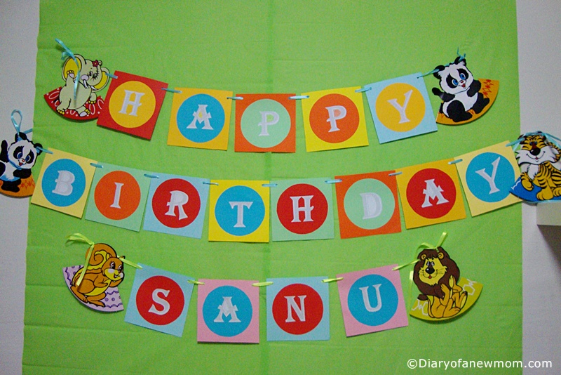 Animal themed Birthday banner for 1st Birthday!
