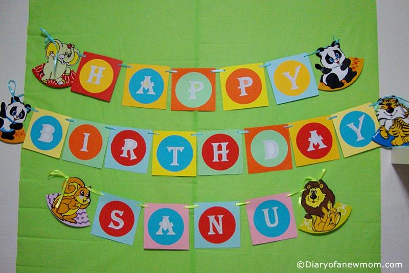 Animal themed Birthday banner for 1st Birthday!