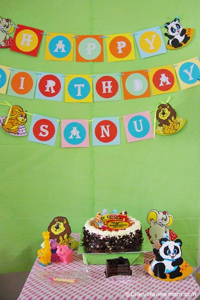 DIY Birthday Banner- Animal Themed Party