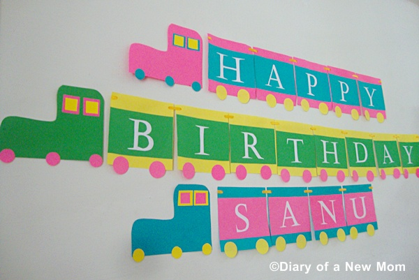 DIY Train Birthday Banner
