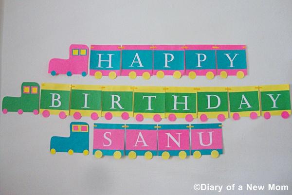 DIY Train Birthday Banner