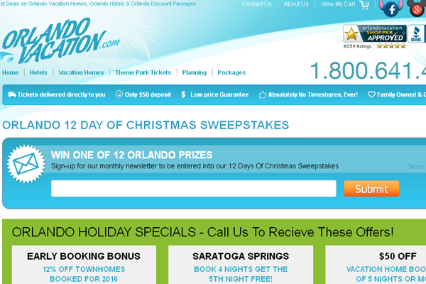 Orlando Vacation is giving away 12 great Disney Themed prizes