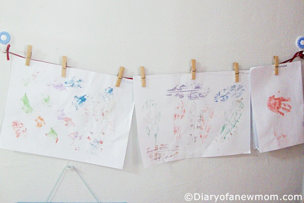 kids art work display ideas