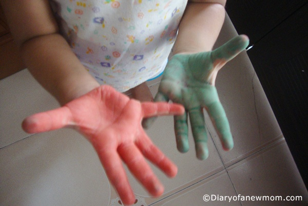 Hand Prints and Play Time