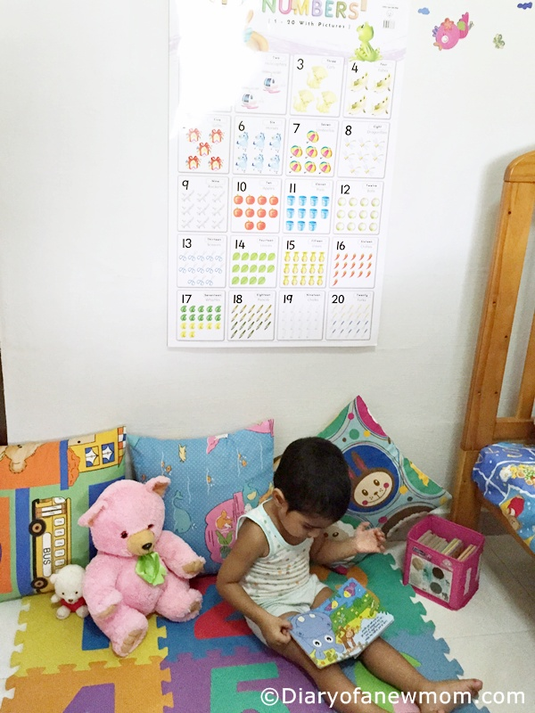 Easy DIY Reading corner for toddler
