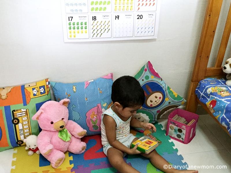 Easy DIY Reading corner for toddler