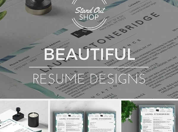 Stand Out Cv Designs : Beautiful resume designs that help you to stand out from