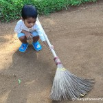 Sweeping the Garden in Sri Lanka