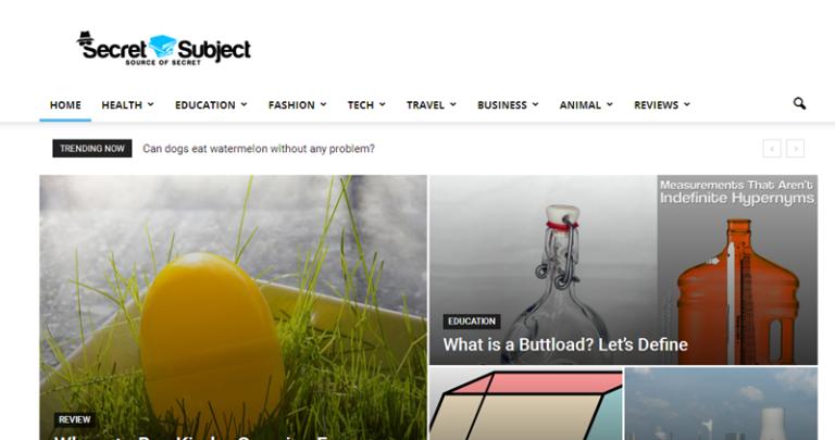 SecretSubject - A Lifestyle Blog that you Should Read