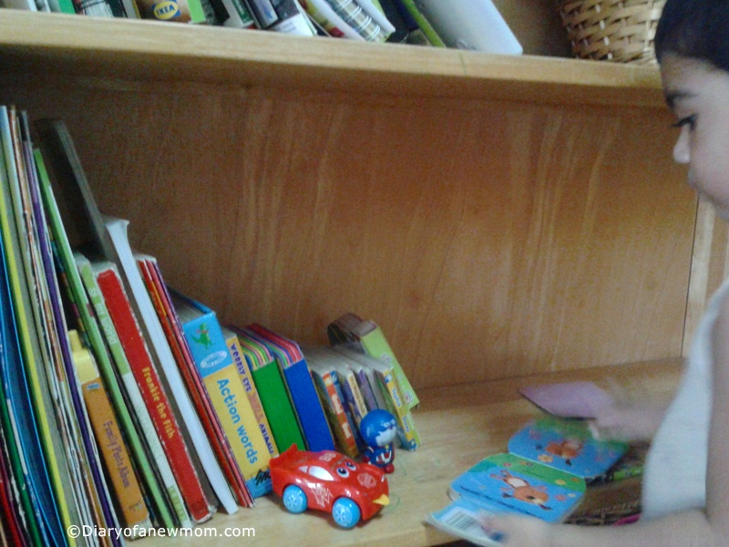 reading corner for a toddler