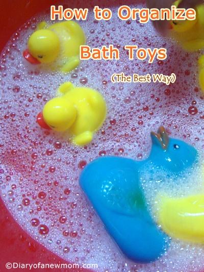 organize your bath toys