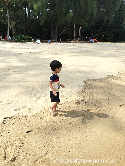 East Coast Park with a toddler