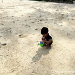At the Singapore East Coast Park with a Toddler