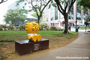 Singa the Courtesy Lion at Dhoby Ghaut
