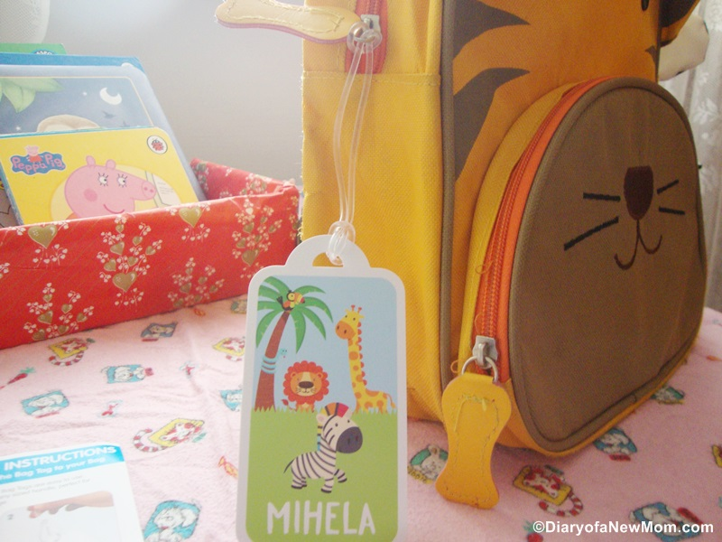 Personalised bag tag from Bright Star Kids-review