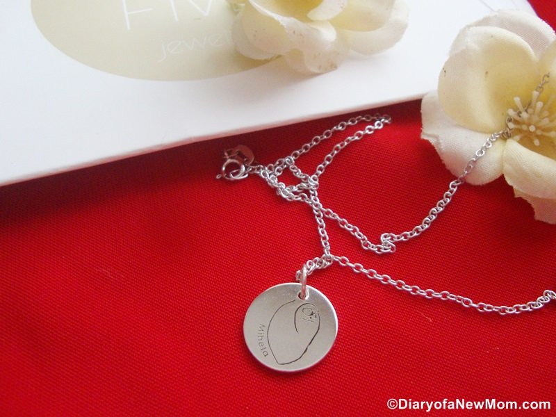 Personalized Drawing Necklace from Ninetwofive Jewelry