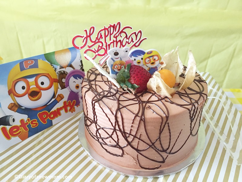 Design for Pororo Birthday Cake