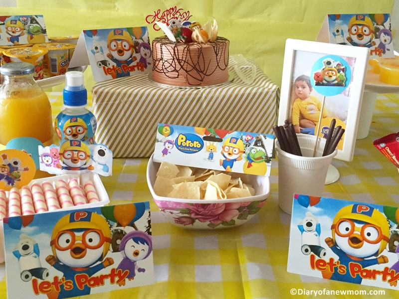 Pororo themed Birthday Party