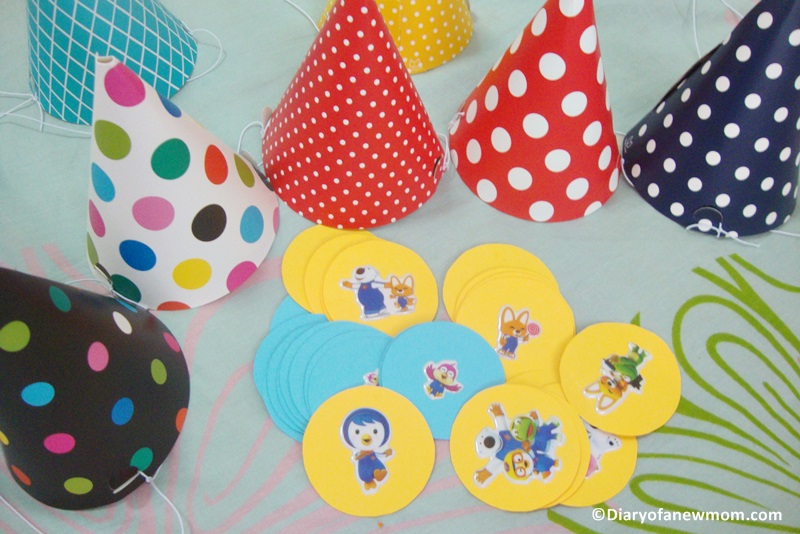 DIY birthday party hats