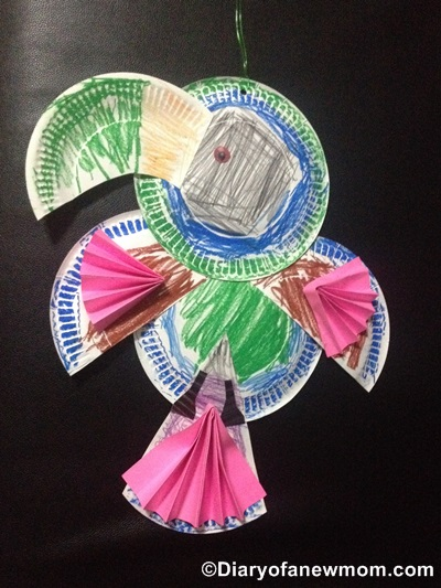 Paper Plate Toucan craft with my preschooler