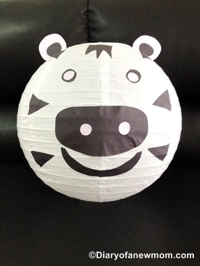 Paper Lantern Decoration with Preschooler