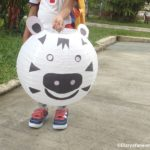 Paper Lantern Decoration with Preschooler : It's a Zebra!