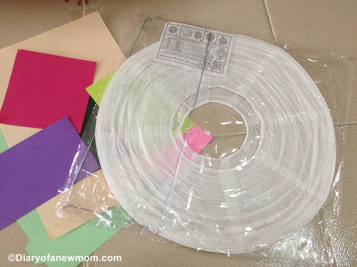 Paper Lantern Decoration with Preschooler
