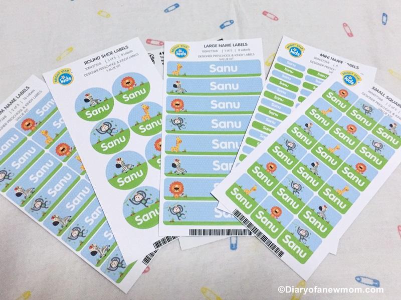 Bright Star Kids Name Labels