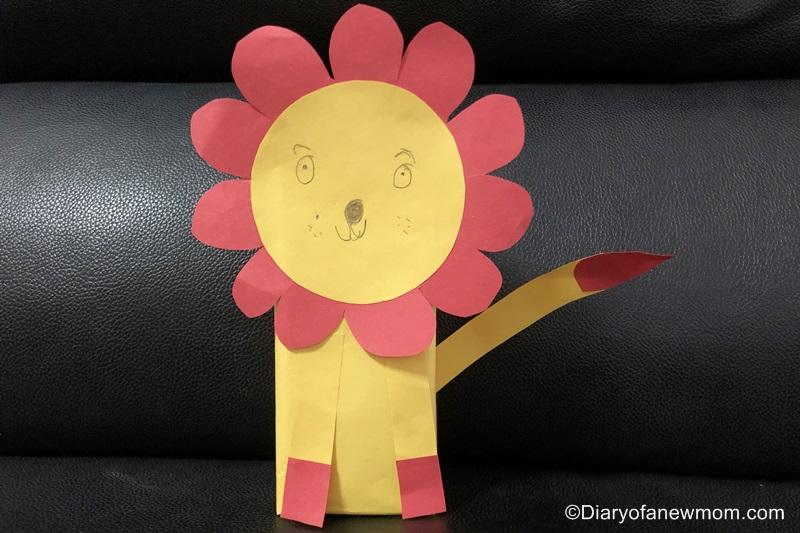 lion craft for kids