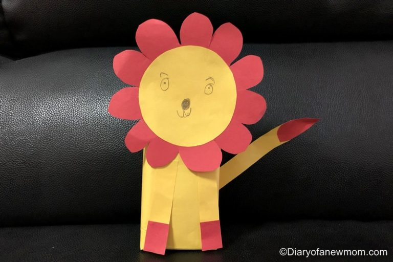 lion craft for kids