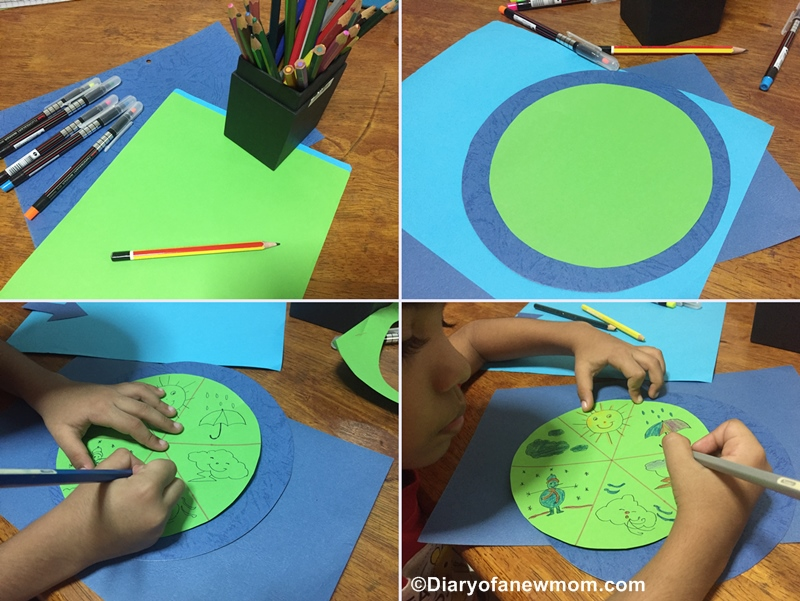 Weather Wheel Craft for Preschoolers
