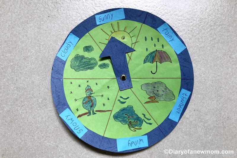 Weather Wheel Craft for Preschoolers