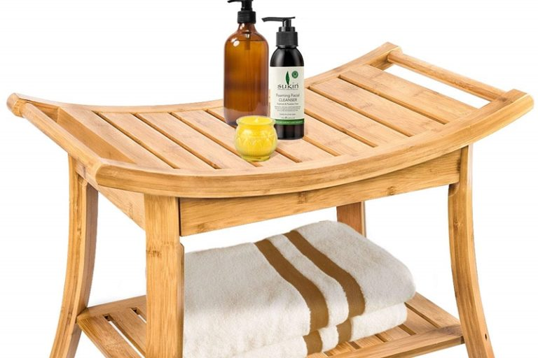 Bamboo Shower Bench