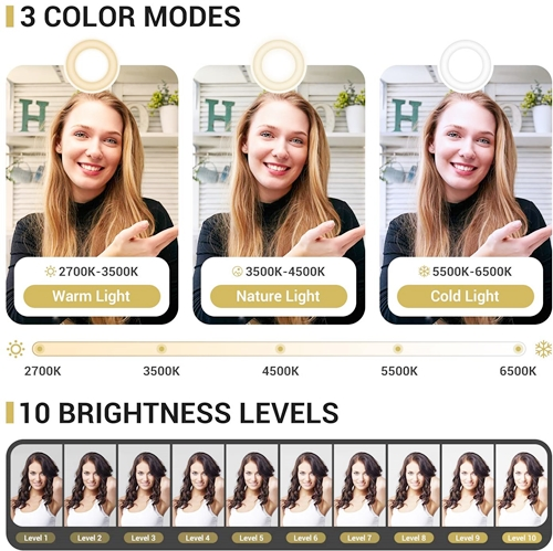 Features of TONOR TRL-20 12-inch Selfie Ring Light